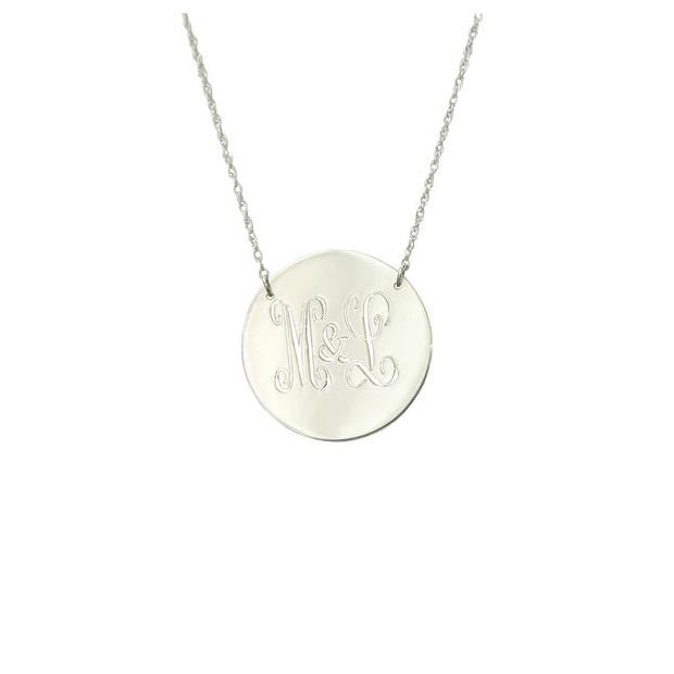 Moon and Lola Personalized Disc Necklace Apparel & Accessories > Jewelry > Necklaces - 1