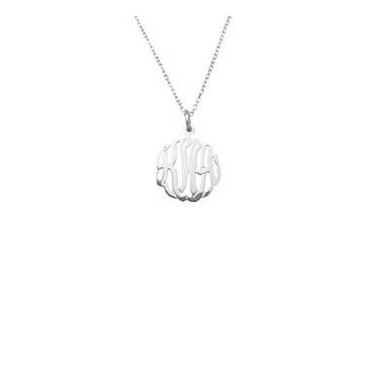 Sterling Silver Mini Monogram Necklace-Purple Mermaid Designs Apparel & Accessories > Jewelry > Necklaces - 1