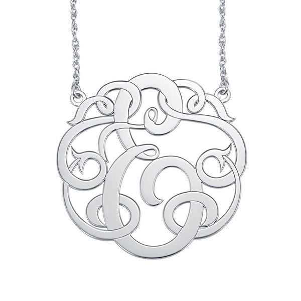 Single Initial Monogram Necklace Apparel & Accessories > Jewelry > Necklaces - 2