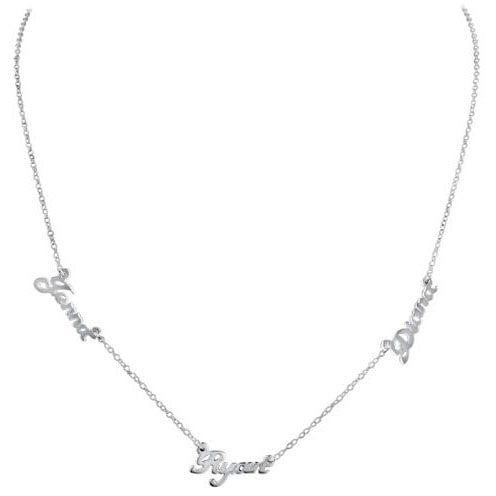 Sterling Silver Multiple Nameplate Necklace Apparel & Accessories > Jewelry > Necklaces - 2