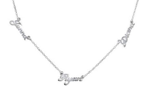 Sterling Silver Multiple Nameplate Necklace Apparel & Accessories > Jewelry > Necklaces - 1