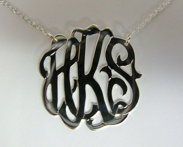 Sterling Silver Freeform Monogram Necklace Apparel & Accessories > Jewelry > Necklaces - 3