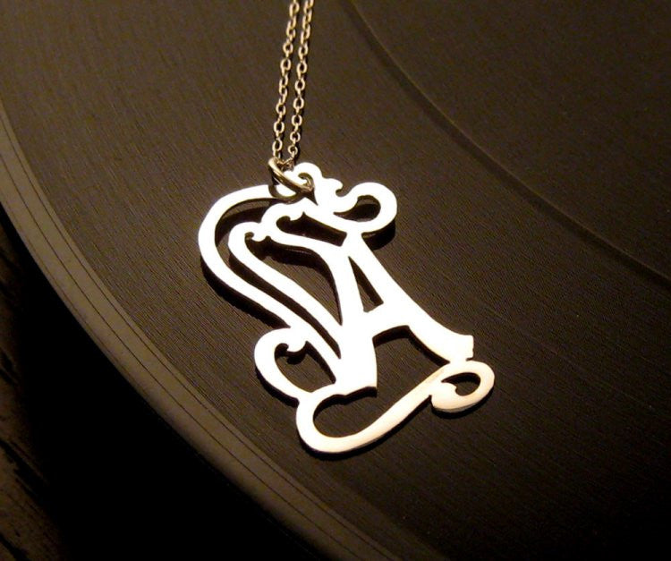 Sterling Silver Custom Initial Necklace Apparel & Accessories > Jewelry > Necklaces - 1