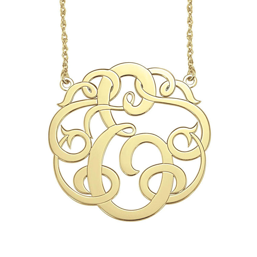 Single Initial Monogram Necklace Apparel & Accessories > Jewelry > Necklaces - 1