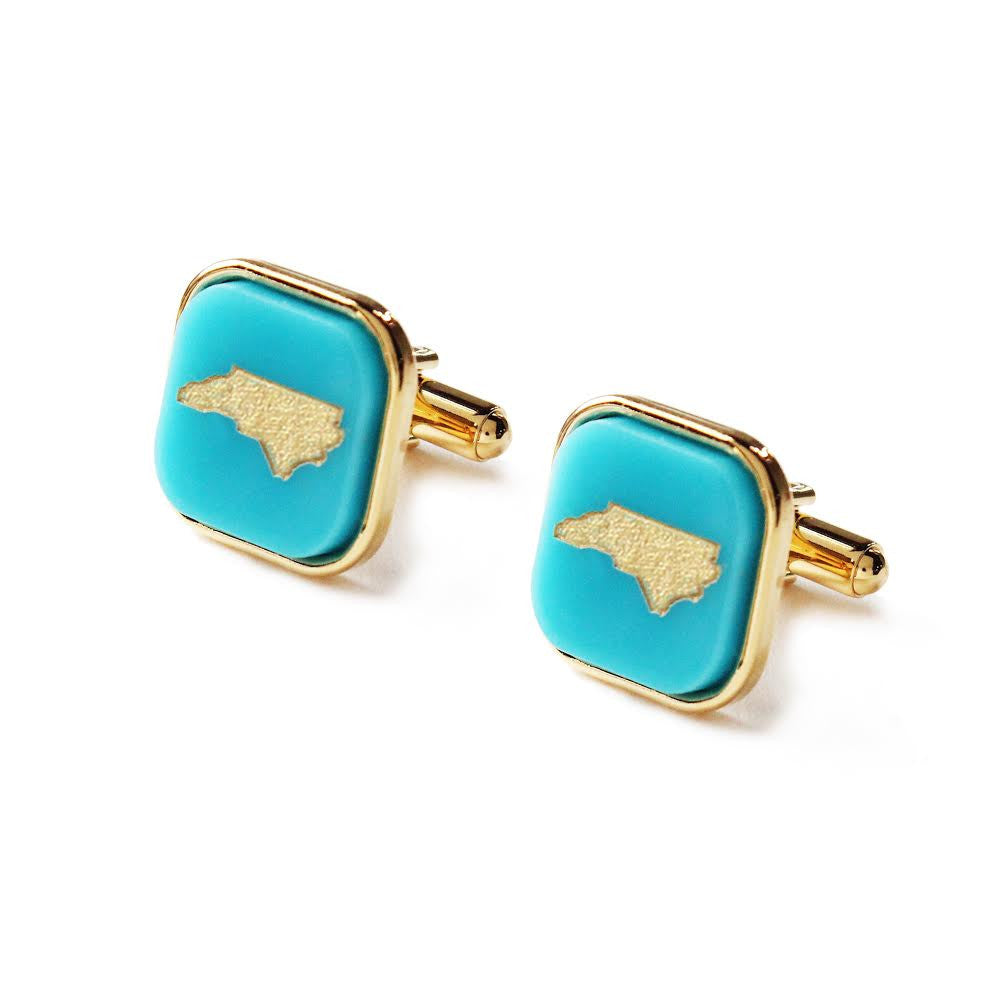 State Square Cuff Links by Moon and Lola Apparel & Accessories > Jewelry > Cufflinks - 1