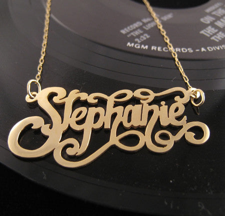 Gold Custom Nameplate Necklace Apparel & Accessories > Jewelry > Necklaces - 1
