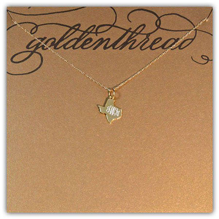 14K Gold Filled Engraved Texas Necklace Apparel & Accessories > Jewelry > Necklaces - 3