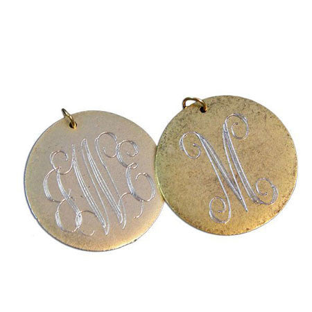 14K Gold Filled Large Engraved Disc Necklace Apparel & Accessories > Jewelry > Necklaces - 5
