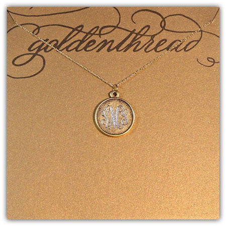 14K Gold Filled Rimmed Engraved Disc Necklace Apparel & Accessories > Jewelry > Necklaces - 3