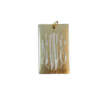 14K Gold Filled Engraved Large Rectangle Necklace Apparel & Accessories > Jewelry > Necklaces - 4