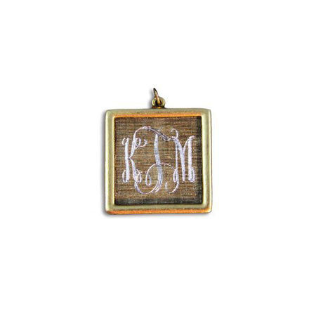 Antiqued 14K Gold Filled Engraved Square Necklace Apparel & Accessories > Jewelry > Necklaces - 4