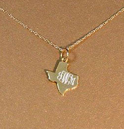 14K Gold Filled Engraved Texas Necklace Apparel & Accessories > Jewelry > Necklaces - 2