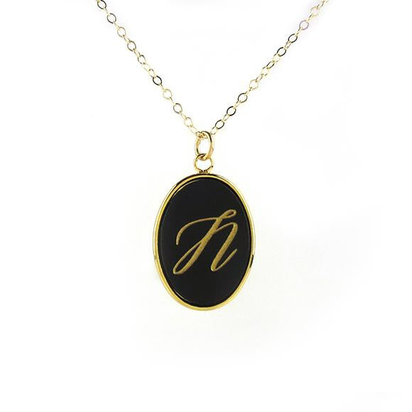 Acrylic Vineyard Single Initial Necklace