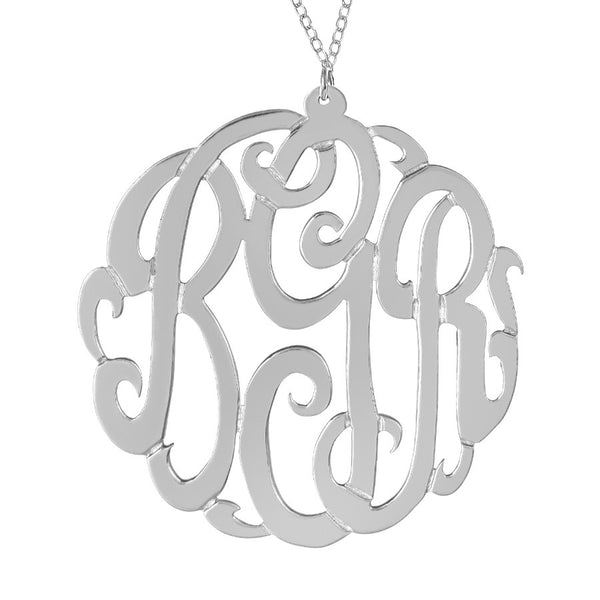 Sterling Silver Monogram Necklace by Purple Mermaid Designs Apparel & Accessories > Jewelry > Necklaces - 2