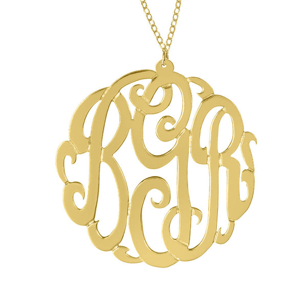 Gold Monogram Necklace by Purple Mermaid Designs Apparel & Accessories > Jewelry > Necklaces - 3