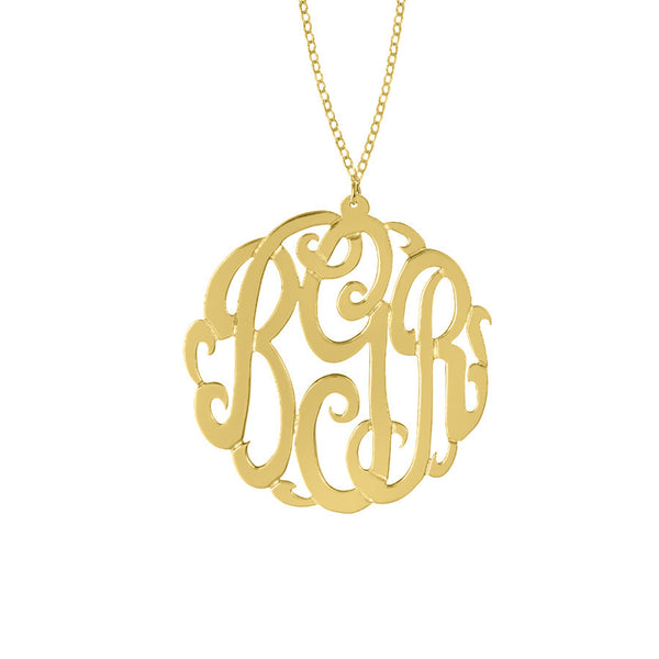 Gold Monogram Necklace by Purple Mermaid Designs Apparel & Accessories > Jewelry > Necklaces - 4