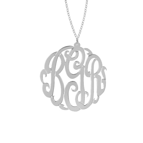 Sterling Silver Monogram Necklace by Purple Mermaid Designs Apparel & Accessories > Jewelry > Necklaces - 4