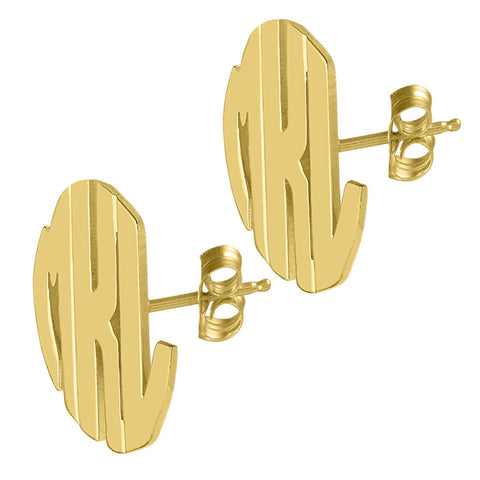 24K Gold Plated Block Post Earrings by Purple Mermaid Designs Apparel & Accessories > Jewelry > Earrings