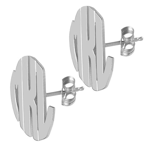 Sterling Silver Block Post Earrings by Purple Mermaid Designs Apparel & Accessories > Jewelry > Earrings