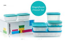 Freezer Storage Set - 7 piece with Aqua Seals!