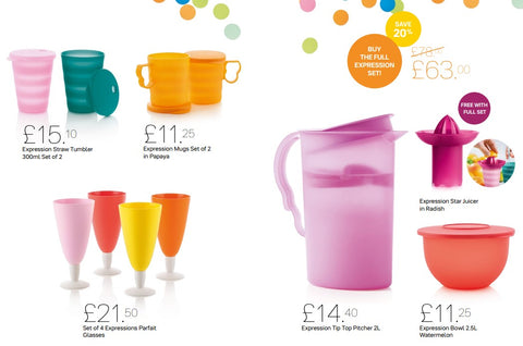 Expressions Summer Set with free juicer or individually