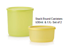 Stack Canister Set x 2 (1.1L and 530ml)