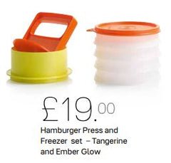 Hamburger Press and Freezer Set - Tangerine and Ember Glow