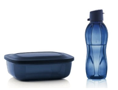 Tupperware Lunch Set - Eco Bottle 500ml/Rectangle 500ml