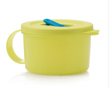 L054 Crystalwave Microwave Soup Mug 500ml Lime Yellow