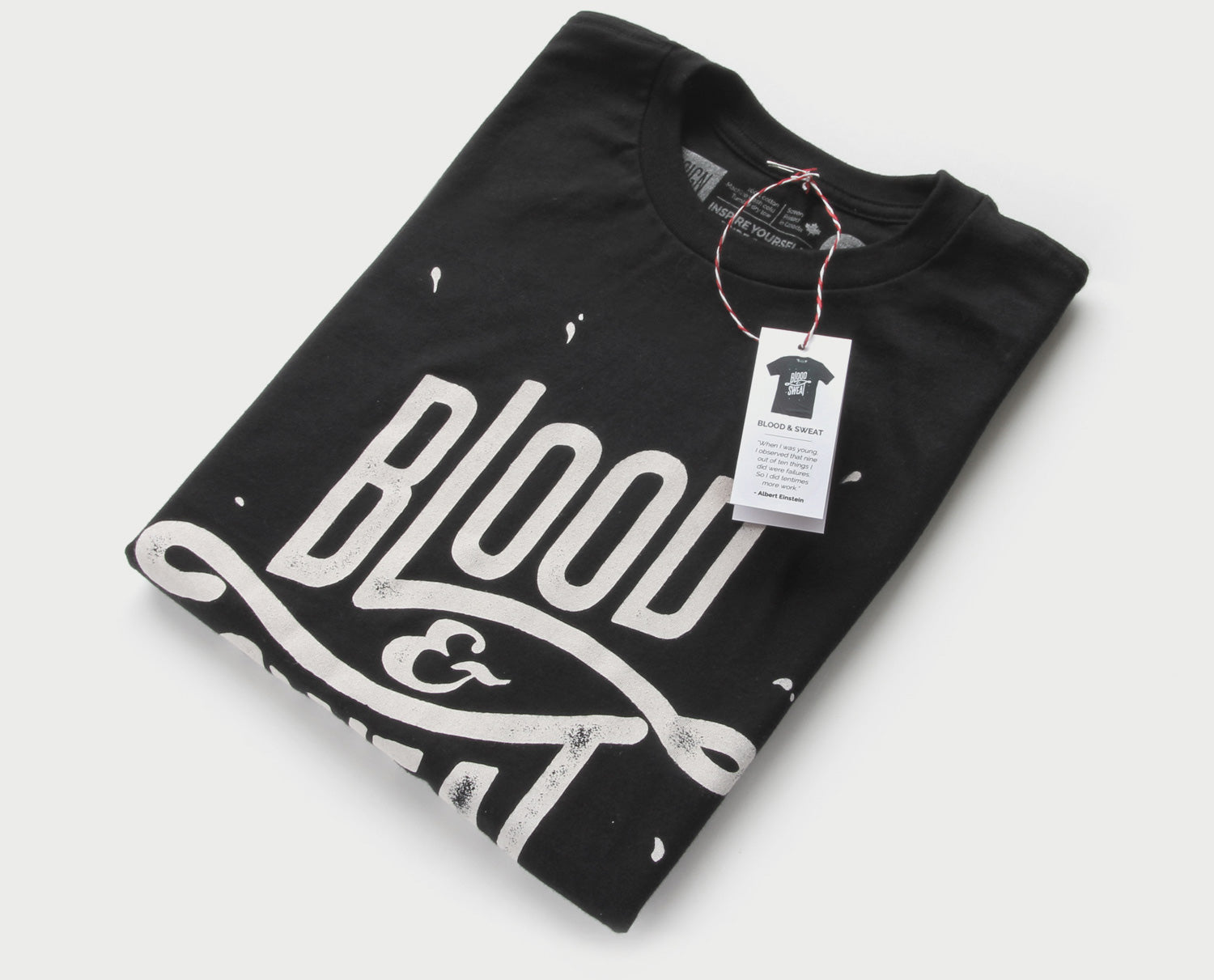 Blood & Sweat (BW) - Minimal t-shirt design by Design Different