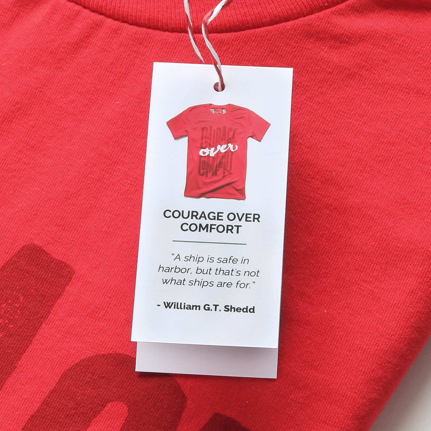 Courage Over Comfort - Minimal t-shirt design by Design Different