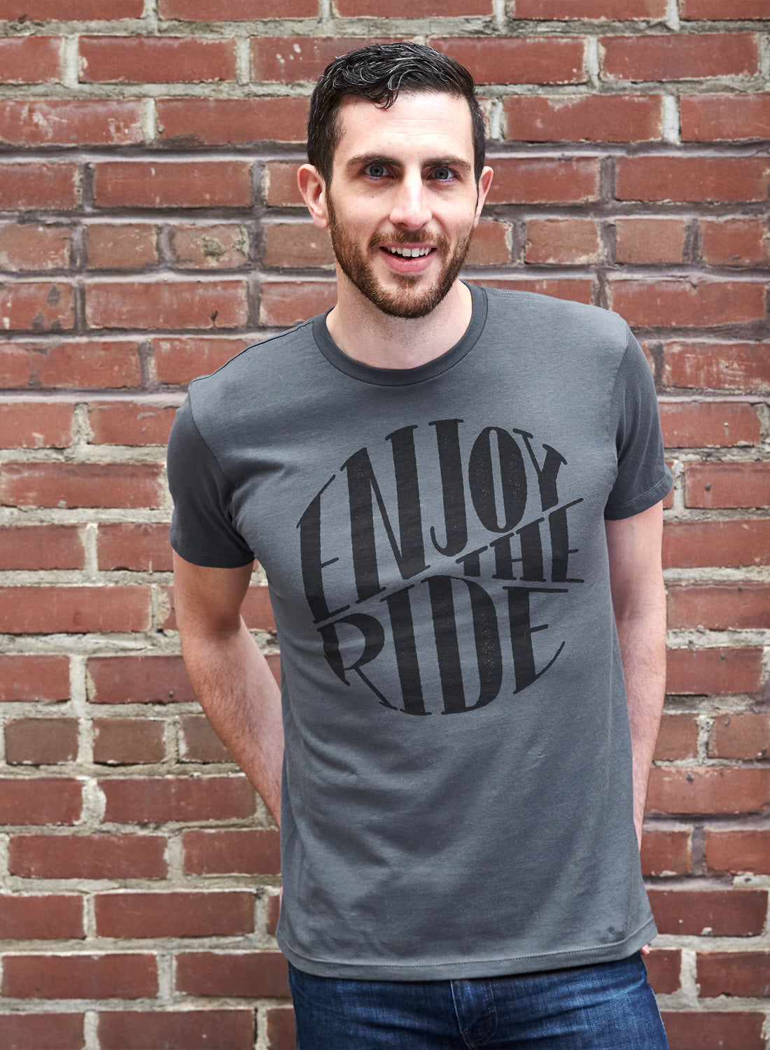 Enjoy the Ride - Minimal t-shirt design by Design Different