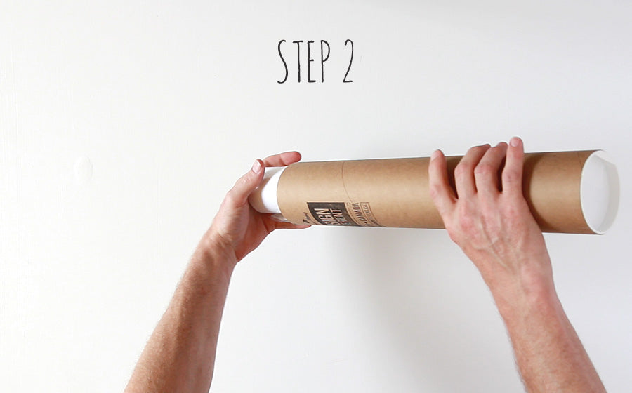 how to uncurl a poster