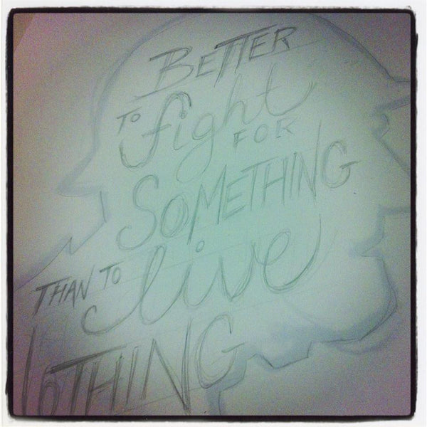 Hand Lettered Poster Quote George S. Patton