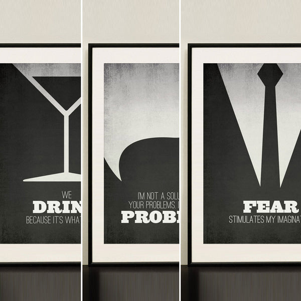Mad Men Minimalist Poster Quotes Own All 3 and SAVE