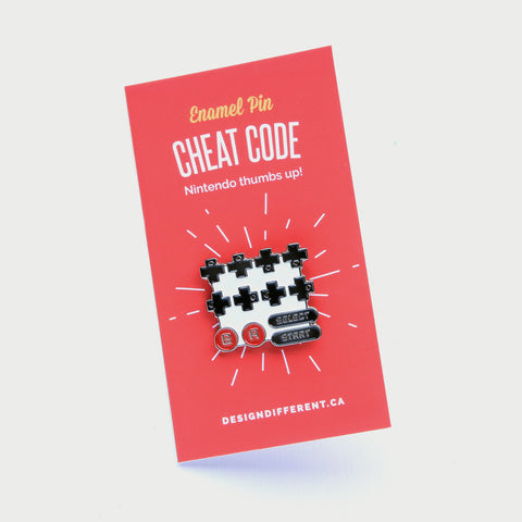 Enamel Pin Contra Cheat Code Lapel Pin