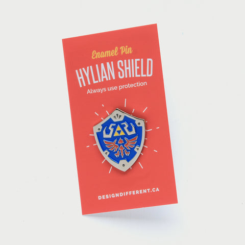 Hylian Shield - Enamel Pin. Zelda Pin