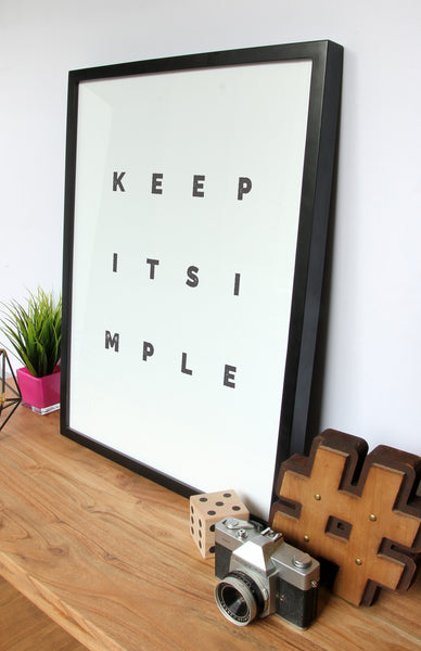 Keep It Simple - minimal print