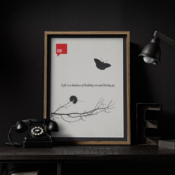 A set of 3 Rumi Minimalist Poster Quotes