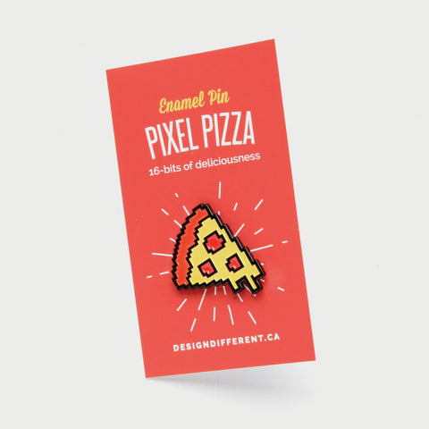 Pixel Pizza Enamel Pin - Lapel Pin