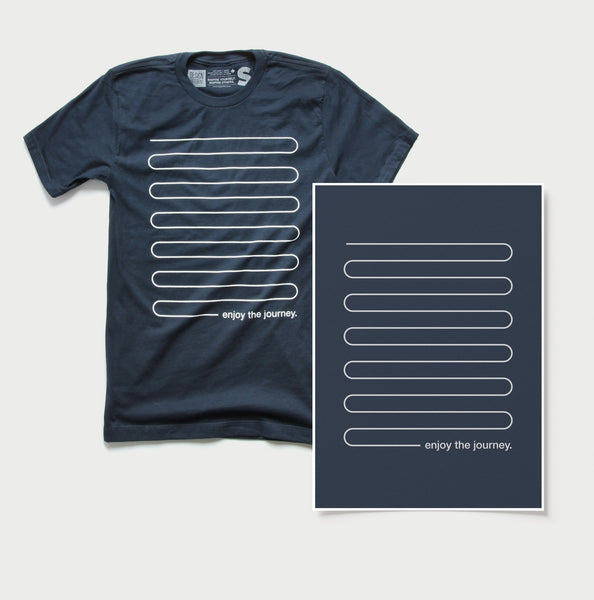 Enjoy the Journey - Minimal t-shirt and print - SET