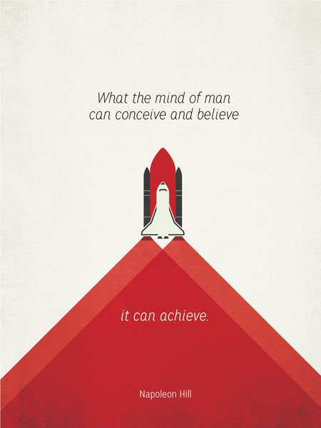 Poster Quote Napoleon Hill Space Shuttle