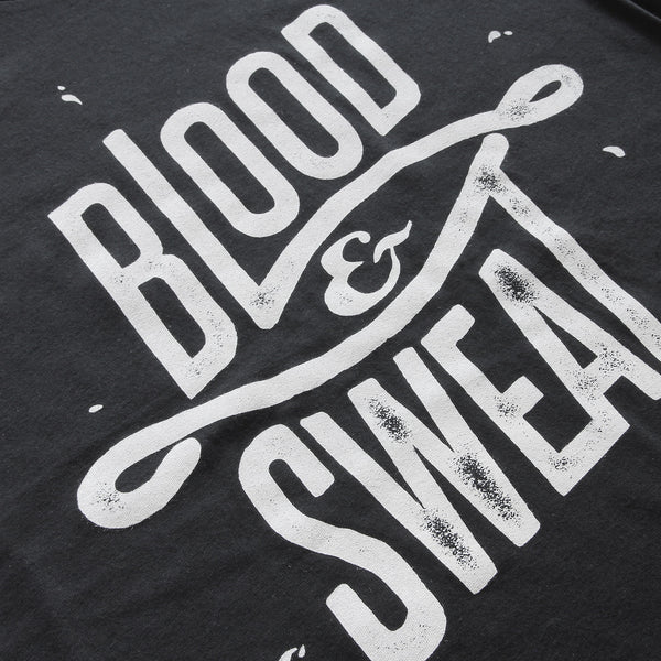 Blood Sweat (Black) - Minimal t-shirt design by Design Different