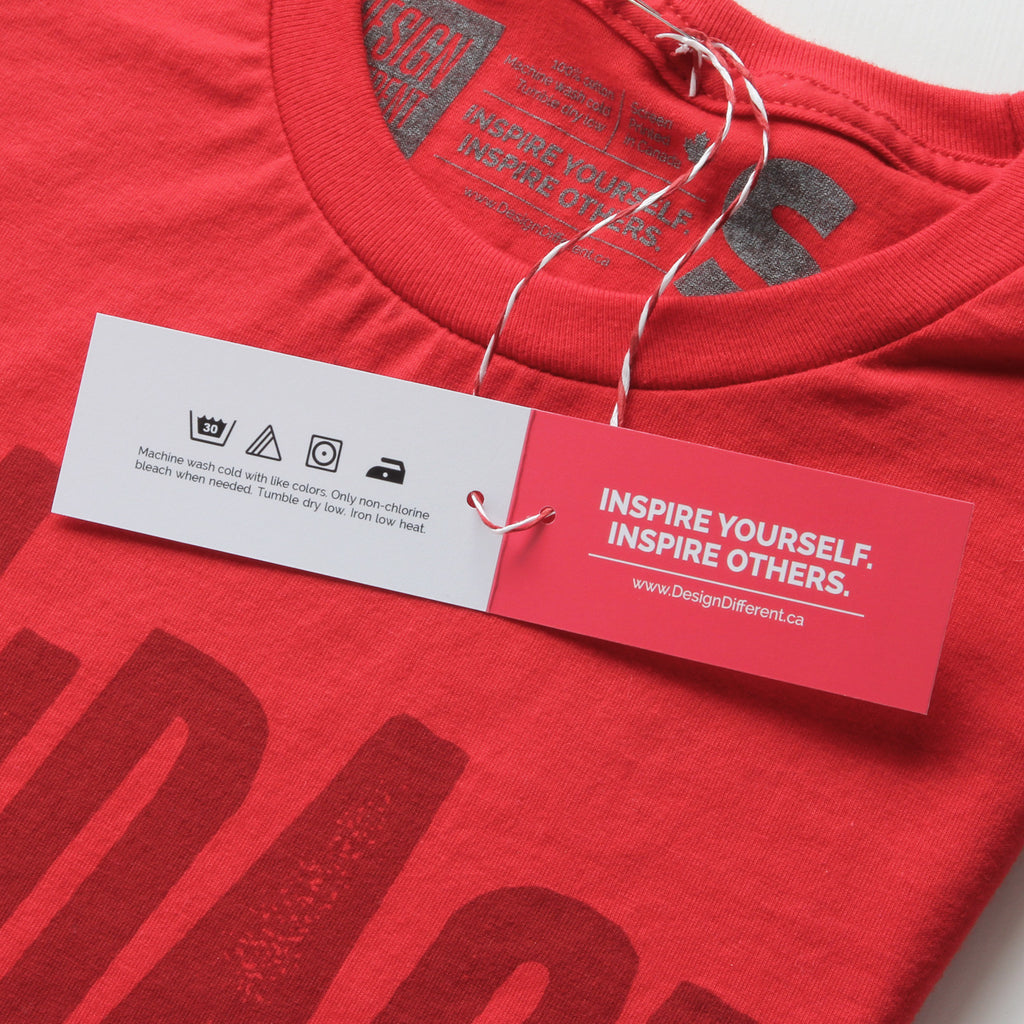 T shirt design red -  Courage Over Comfort Minimal T Shirt Design By Design Different