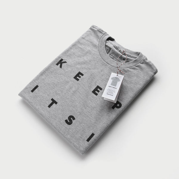 Keep It Simple - minimal t-shirt design by Design Different