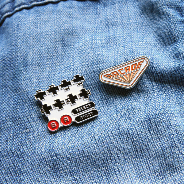 Stranger Things Arcade and Contra Nintendo Enamel Pin
