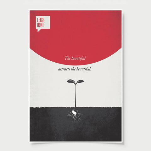 Minimalist Poster Quote Leigh Hunt