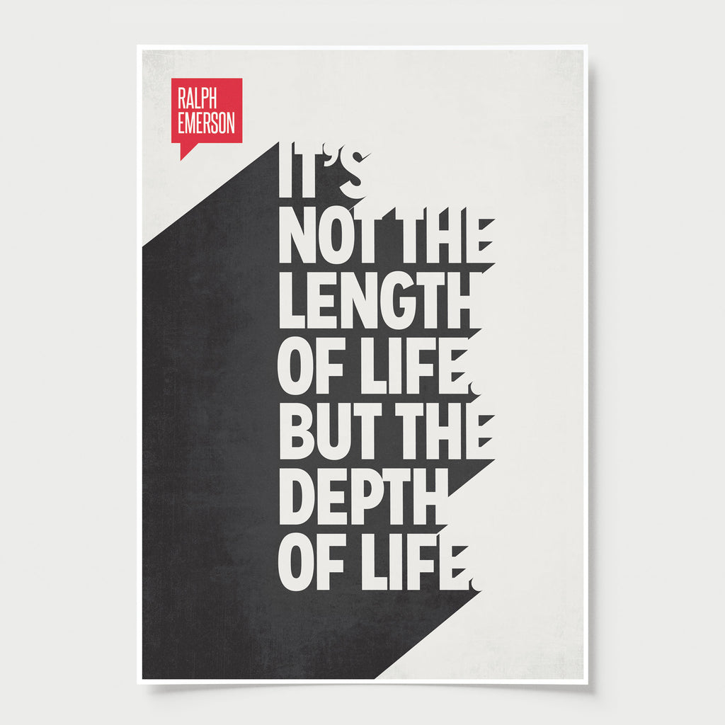 Life Quote Poster Minimalist Poster Quote Ralph Waldo Emerson  Design Different