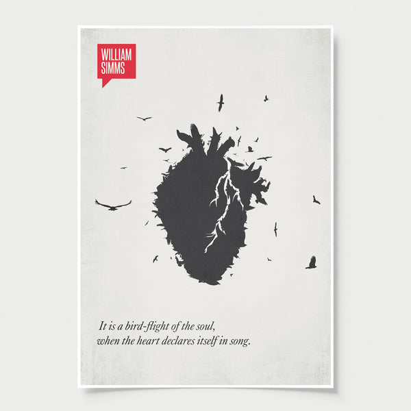 Minimalist Poster Quote William Simms