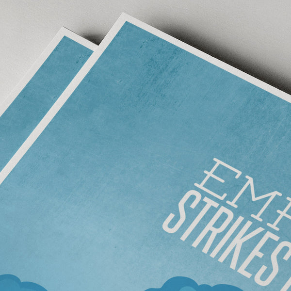 Star Wars - Empire Strikes Back minimal poster print